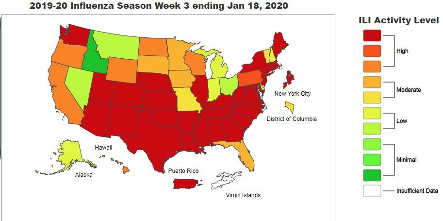 アメリカ インフルエンザ コロナ ウイルス
